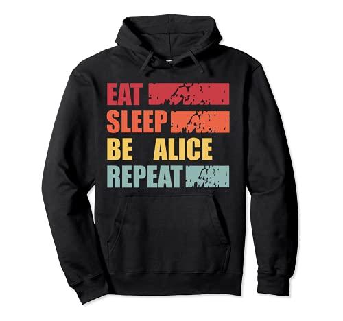 ALICE ALICE - Camisa con nombre personalizado Sudadera con Capucha