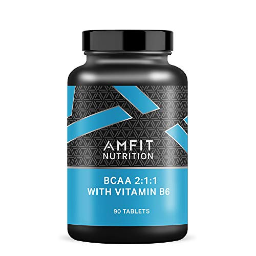 Amazon Brand - Amfit Nutrition BCAA 2:1:1 with B6 - 90 Tablets