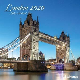 London - Broschurkalender - Kalender 2020 - teNeues-Verlag - Wandkalender mit atmosphärischen Aufnahmen und Platz für Eintragungen - 30 cm x 30 cm (offen 30 cm x 60 cm)