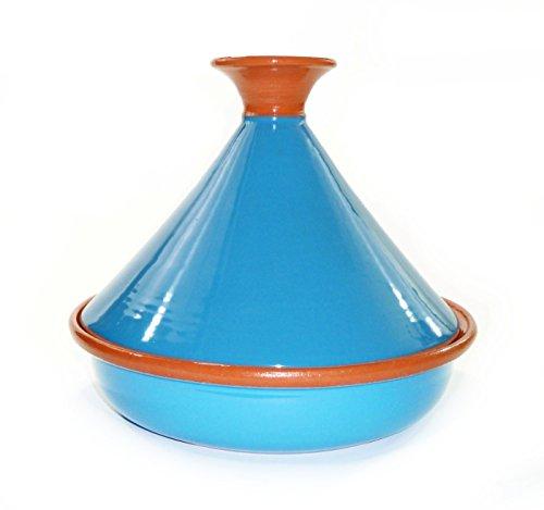 Le Souk Ceramique Cookable Tagine, 12-Inch, Turquoise