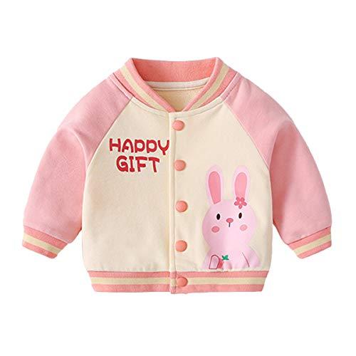 famuka Chaqueta de bebé niño niña Chaqueta de transición Primavera Verano Ropa de bebé (Rosa, 9-12 Meses)
