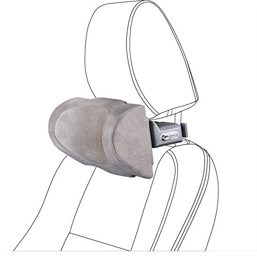 Car Neck Pillow, Buluby Premium Interior Accessories Headrest Support for Driver & Front Passenger Seat -Auto Gadgets -Grey