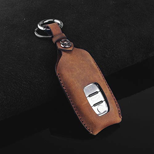 BHYUDYT Car Key Cover With Keychain ,For Audi A4L A6L A8L Q5 A5 A6 A7 S5 S6 C7 S7 S8 Q7 A4 B7 B8 B9