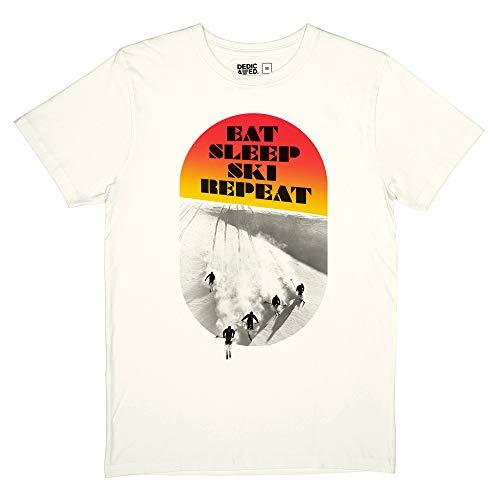 DEDICATED T-Shirt Stockholm Eat Sleep Ski Größe XL