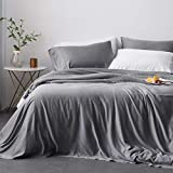 Oasis Fine Linens Island Bamboo Collection Softest Hypoallergenic Sheets (Queen, Storm)