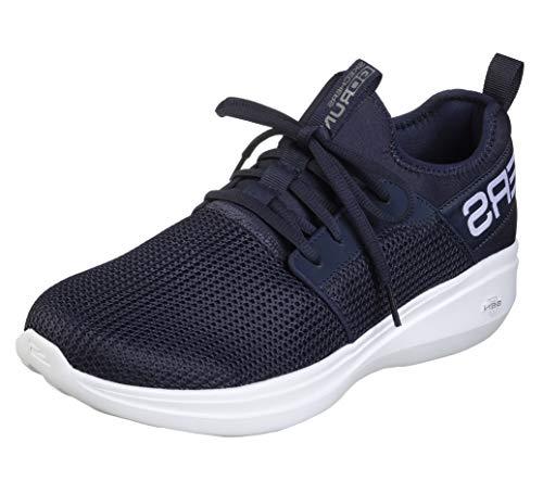 Skechers mens Go Run Fast - Valor Sneaker, Navy, 10.5 US