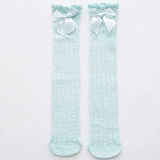 Socks Lovely Pure Cotton Mid-Barrel Princess Knee Socks Baby Socks, Kid Size:28cm(White) Outdoor & Sports (Color : Blue)