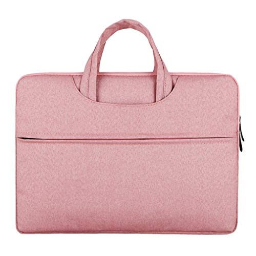 Multifunction Business Style Fashionable Laptop Notebook Sleeve Case Carry Bag Shockproof Handbag for MacBook Air Pink