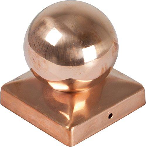Preisvergleich Produktbild Unbekannt Pfostenkappen Kugel Kupfer 71 x 71 mm