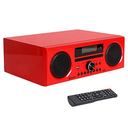 DLITIME DAB + met Afstandsbediening FM DSP HiFi Digitale Radio Bluetooth 2 * 15W Krachtige ondersteuning AUX IN/CD/USB/EQ/FM/opname