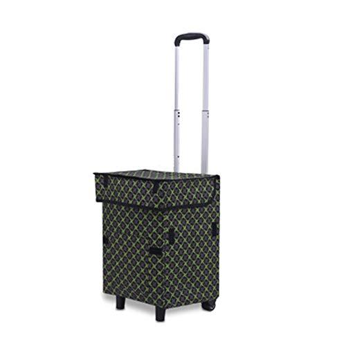 QiHaoHeji Einkaufstrolley, tragbar, faltbar, für Gewürze, faltbar, Backofen, 34x28x49cm