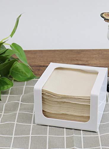 Yuxiyuan シンプルティッシュボックスハンカチ紙収納ラックレストランレストラン茶ホテル特別な正方形の紙...