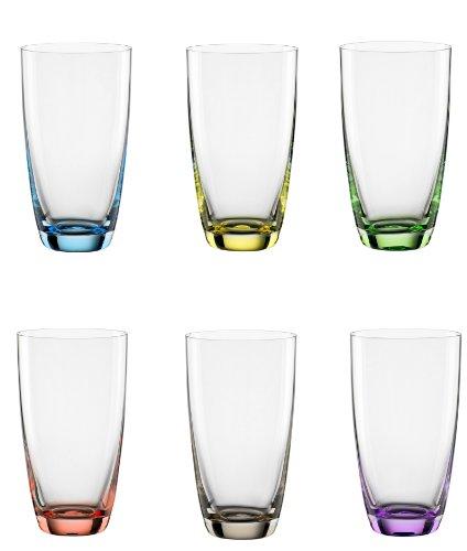 Bohemia Cristal 093 006 051 Viva Colori - Vasos de cóctel (6...