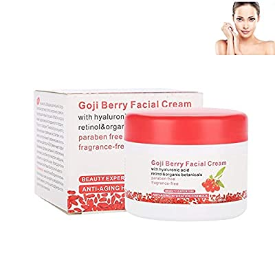 Goji Berry Facial Cream, Anti-Aging Antioxidant Face Moisturizer Revitalizing Anti Wrinkle Cream by Rotekt