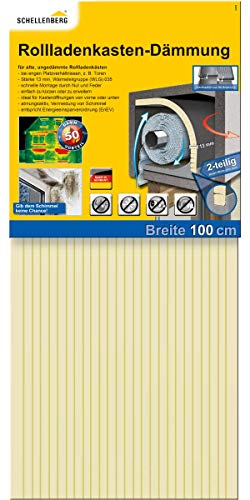 Schellenberg 66280 2 piezas con 13 mm de grosor – 100 x 50 cm, aislamiento de persianas, 100x50cm/13mm