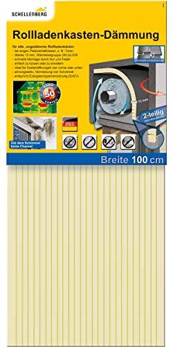 Schellenberg 66280 Wärmedämmung Rolladenkastendämmung, 2-teilig mit 13 mm Stärke – 100 x 50 cm, Rolladendämmung
