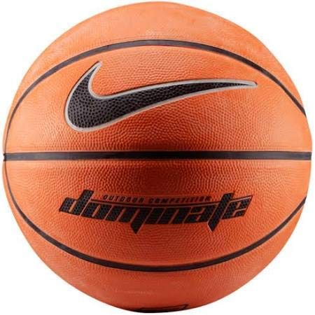Cheapest Price! Nike Mens Dominate Basketball Amber/Black/Metallic Platinum, Size Full (29.5, Ages ...