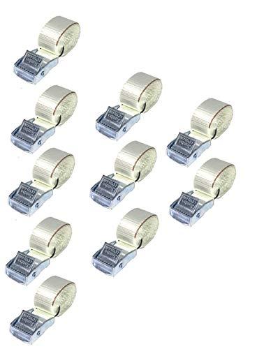 JUMBO Spanband 150cm, 25mm met klemgesp 10 pack