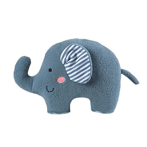 Zidao Juguete del bebé Elefante de Peluche, calmante y Dormir Puede ser Usado como Amortiguador de la Almohadilla Super Suave Felpa Corta de algodón elástico de Relleno Adecuado,Azul
