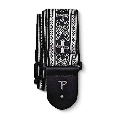 Perri's Leathers Ltd. - Guitar Strap - Nylon - Jacquard - Metallic Silver...