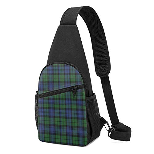 XCNGG Campbell Tartan Chest Backpack Chest Pack Ultra Lightweight Backpack