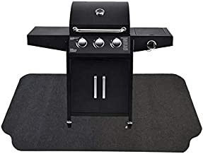 Under The Grill Protective Deck and Patio Mat, 36 x 54 inches, Use This Absorbent Grill Pad Floor Mat for Your BBQ Grilling Gear Gas Electric Grill Without Grease Splatter and Other Messes