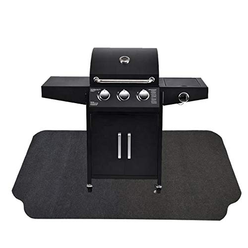 Under The Grill Protective Deck and Patio Mat, 36 x 72.1 inches, Use This Absorbent Grill Pad Floor...