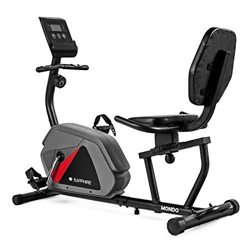 Xylo-Sapphire Liegeheimtrainer Sitzheimtrainer Heimtrainer Fitnessrad Bike Trimmrad Fitness Mondo (Graphit)