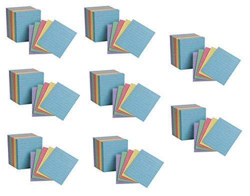 "Oxford Mini Index Cards, 3"" x 2.5"", Ruled, Assorted Colors, 200 Per Pack, Pack Of 8, 1600 Cards Total (10010EE)"