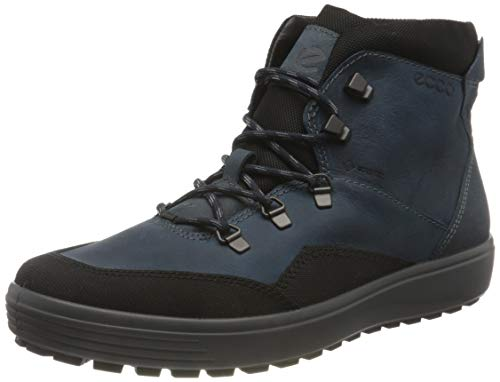 ECCO Men's Soft 7 Tred Terrain Gore-Tex Mid Sneaker, Black/True Navy, 14-14.5