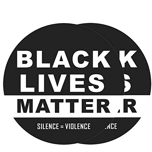 """ILamourCar Black Lives Matter Stickers for Car Silence Violence Political Sign Anti Racism BLM Movement Protest Wall Window Decal 2 Pack 12"""""""
