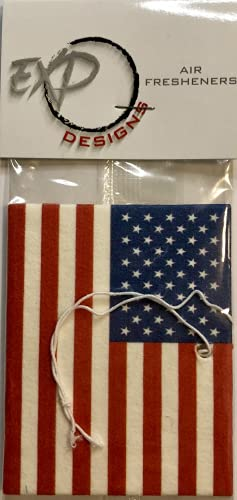u a a auto air fresheners Car Air Freshener American Flag $9.99 Total of 4 Units per pack of higher Quality, Eco Friendly, Long Lasting Scent, Custom Design. Squash Scented