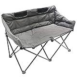 Homecall Camping-Klappstuhl, Doppelsitzer, mit Polsterung - (Grau)