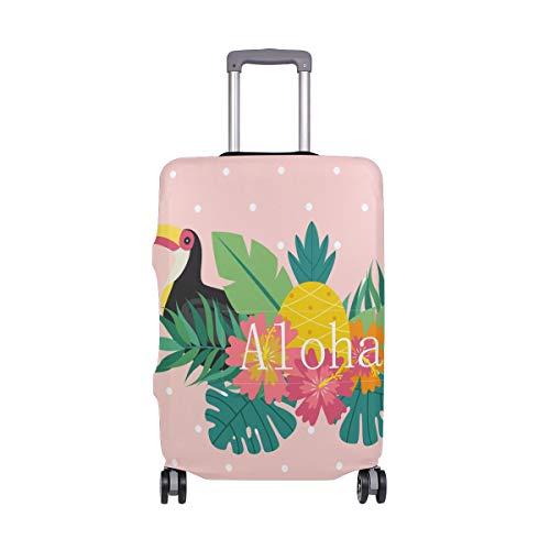 ALINLO Aloha Toucan con cubierta de equipaje de piña maleta de equipaje protector de viaje para 18-32 pulgadas