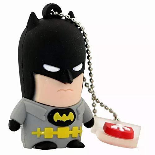 Clé USB Flash Drive Memory Stick USB2.0 Haute Vitesse La Créativité Nouveauté 4 à 256 Go Série Marvel L'ère des Avengers Gardiens De La Galaxie Super Héros (4GB,Batman)