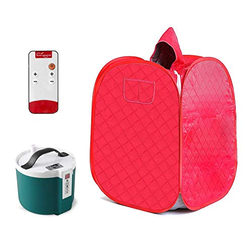 NATUREACT Persönliche Home Dampfsauna, Tragbares Dampfsauna Spa Set, 2L Dampfgarer mit Fernbedienung und 9 Dateien Temperaturanpassung, Home Personal Spa Indoor Body Slimming Therapie, (UK-Stecker)
