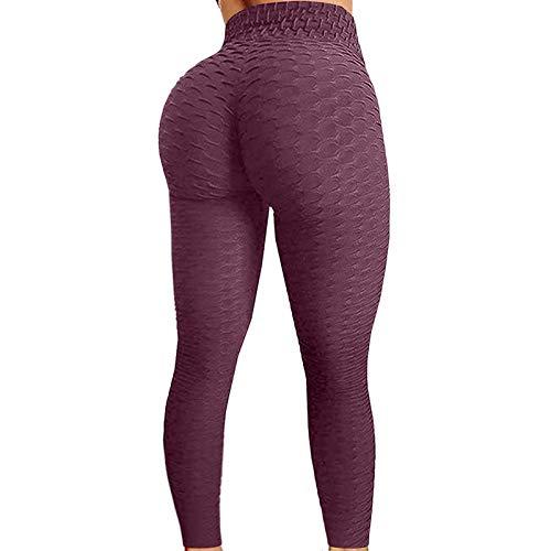 YXYH Mujeres Sin Costura Pantalones Yoga Hacer Subir Entrenamiento Polainas Leggings Fitness Leggins Pantalon Deporte Yoga Rutina Ejercicio Leggins Ropa Fitness (Color : Wine Red, Size : X-Large)
