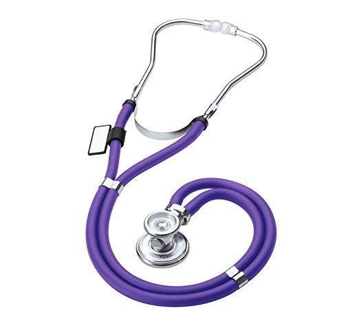 MDF® Sprague Rappaport Zweikopf-Stethoskop mit austauschbarem Bruststück für Erwachsene, Kinderärzte und Säuglinge - Gratis-Parts-for-Life & Lebenslange-Garantie - Lila (MDF767-08)