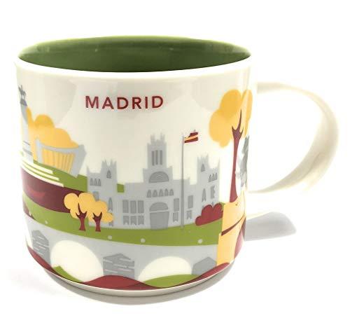 Starbucks Sie Befinden Sich Hier'Yah-Stadt-Becher - Madrid, Spanien. 14 Unzen Weiß