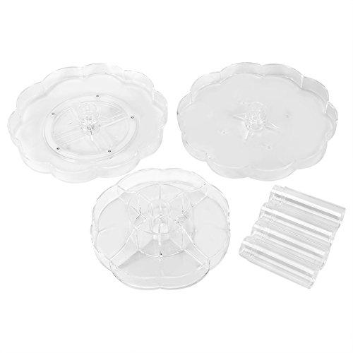 3 Couches Rotatives Organisateur Cosmétique Transparent Acrylique Support Cosmétique Étagère Maquillage Affichage de Stockage