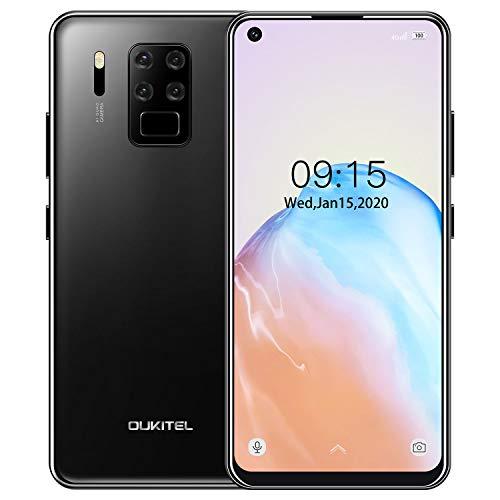 Teléfono Móvil 4G OUKITEL C18 Pro (2020), Cámara 16MP + 8MP + 5MP + 2MP, 6.55 '' Full HD Smartphone Libre, Helio P25 Octa Core 4GB+64GB, 4000mAh Desbloqueo Facial + Huella Digital Dual SIM Negro