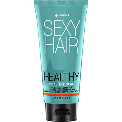 SexyHair Healthy Seal the Deal Split End Mender Lotion, 3.4 Oz | Mends Split Ends up to 92% | All Hair Types