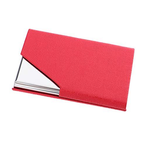 SM SunniMix Leder Kreditkartenausweis Inhaber Taschengeldbörse Business Unisex Case - rot, 9,5 cm