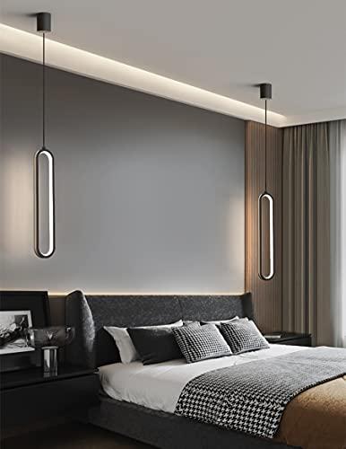 HIL Moda LED Lámpara De Noche Sencillez Arte Plafón De Hierro Forjado Luz De Tres Tonos Moda Araña De Bar Lámparas De Diseño Para Cuarto Sala De Estar Tienda Araña De Decoración De Interiores,Negro