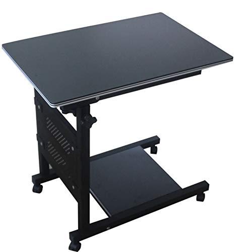 ALBBMY Pflegetisch Notebooktisch, Betttisch Laptoptisch Beistelltisch Sofatisch Mit Rollen, Höhenverstellbar Laptopwagen (Color : White)