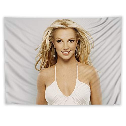 JackGo7 Britney Spears Wandteppich für Sofa, Tisch, Bett, Wandbild, Stranddecke, Wohnheim, Zimmer, Dekoration, Geschenk, 80X60inch/200x150cm