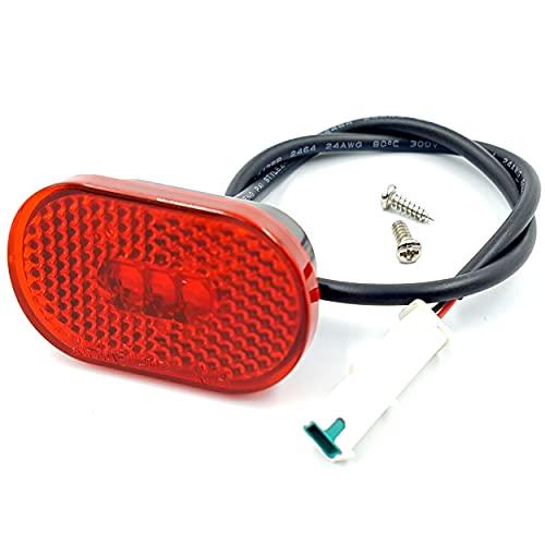 Vestigia® - LED-Rücklicht für Xiaomi Essential 1S Pro2 Elektroroller – Licht für hintere Kotflügel – Ersatzteile für E-Scooter