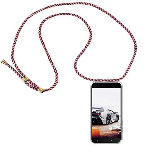 GoodcAcy Funda con Cuerda para Samsung Galaxy A6 Plus 2018 Pantalla en Cristal Templado-Carcasa Transparente de TPU-con Cordon para Llevar en el Cuello