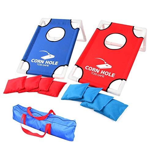 Baywell Portable Sandbags Game Set, Faltbare Kinder Eltern werfen Cornhole Game Board Kits mit 8 Sitzsäcken, Wurfspielzeug Hinterhof Indoor Outdoor Pitching Cages