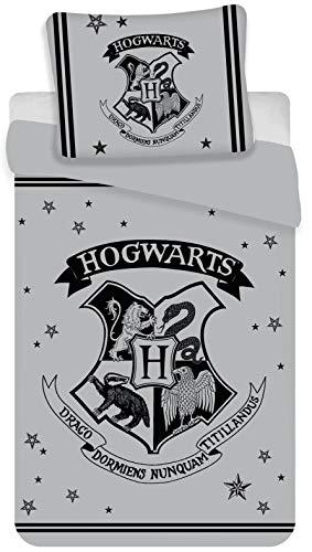 BrandMac Harry Potter Bettwäsche-Set, Bettbezug 135 x 200cm, Kopfkissenbezug 80 x 80cm Baumwolle